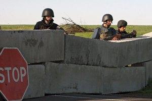 Группа боевиков в Стаханове Луганской области строит блокпост (3) UAport