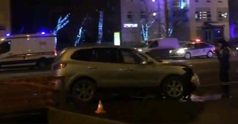 Размещено видео сместа смертоносного ДТП наЗемляном валу в российской столице