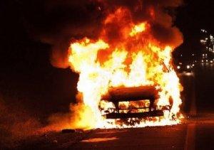 Под Севастополем легковой автомобиль врезался в дерево и загорелся